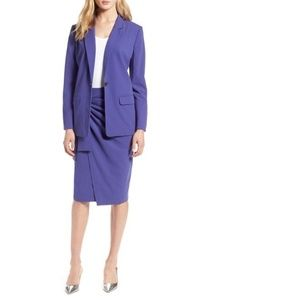 Halogen One Button Blazer Purple Work Professional